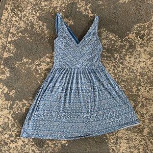 Loft blue and white pattern dress